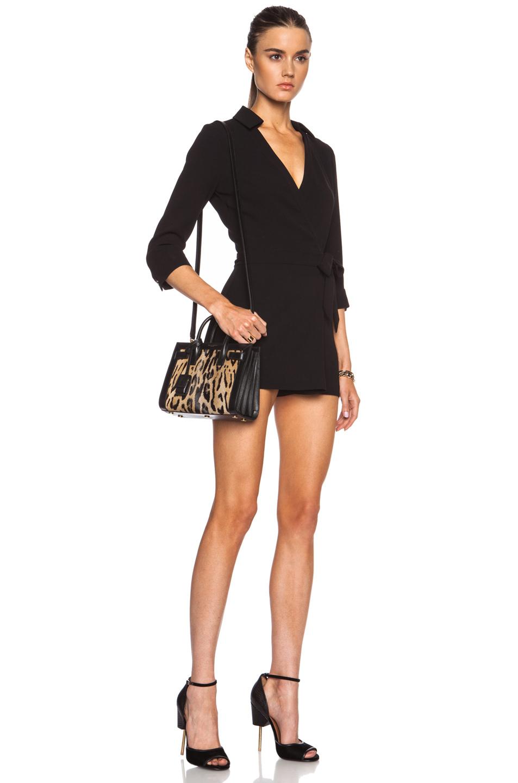 Sac De Jour Leather Nano Carryall Bag, Black
