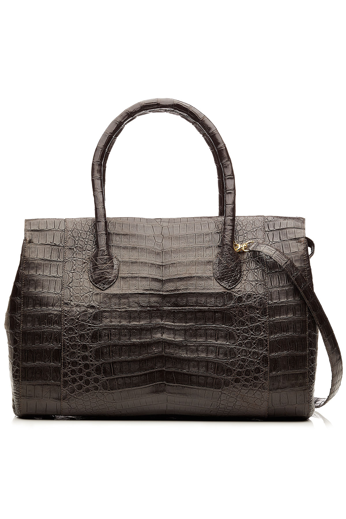 Nancy gonzalez crocodile tote brown in brown lyst for Nancy gonzalez crocodile tote