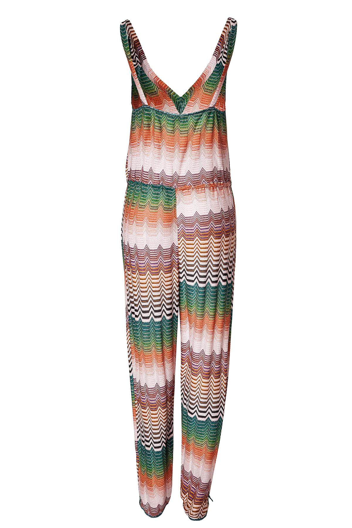 d004fb5cda0 Lyst - Missoni Zigzag Knit Jumpsuit