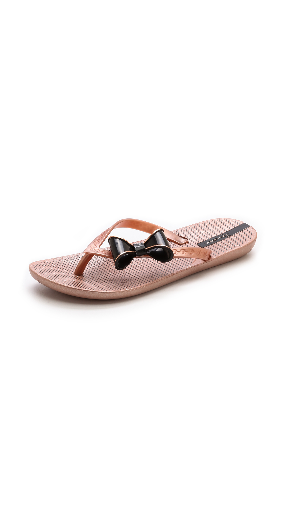 4fcc496ce2f6e Lyst - Ipanema Neo Clara Bow Flip Flops - Rose Gold Black in Metallic