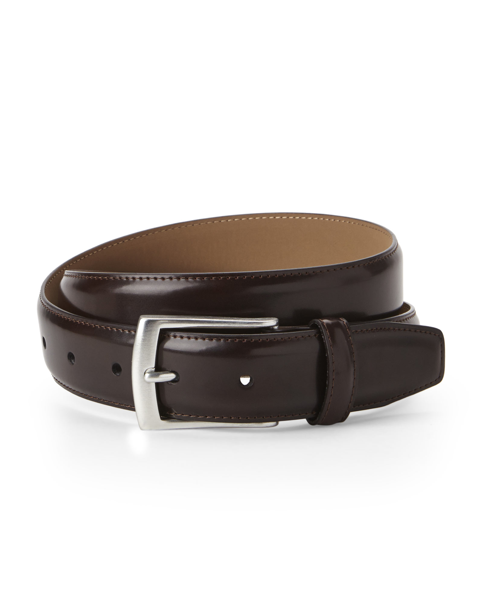 dockers smooth dress belt in brown for lyst