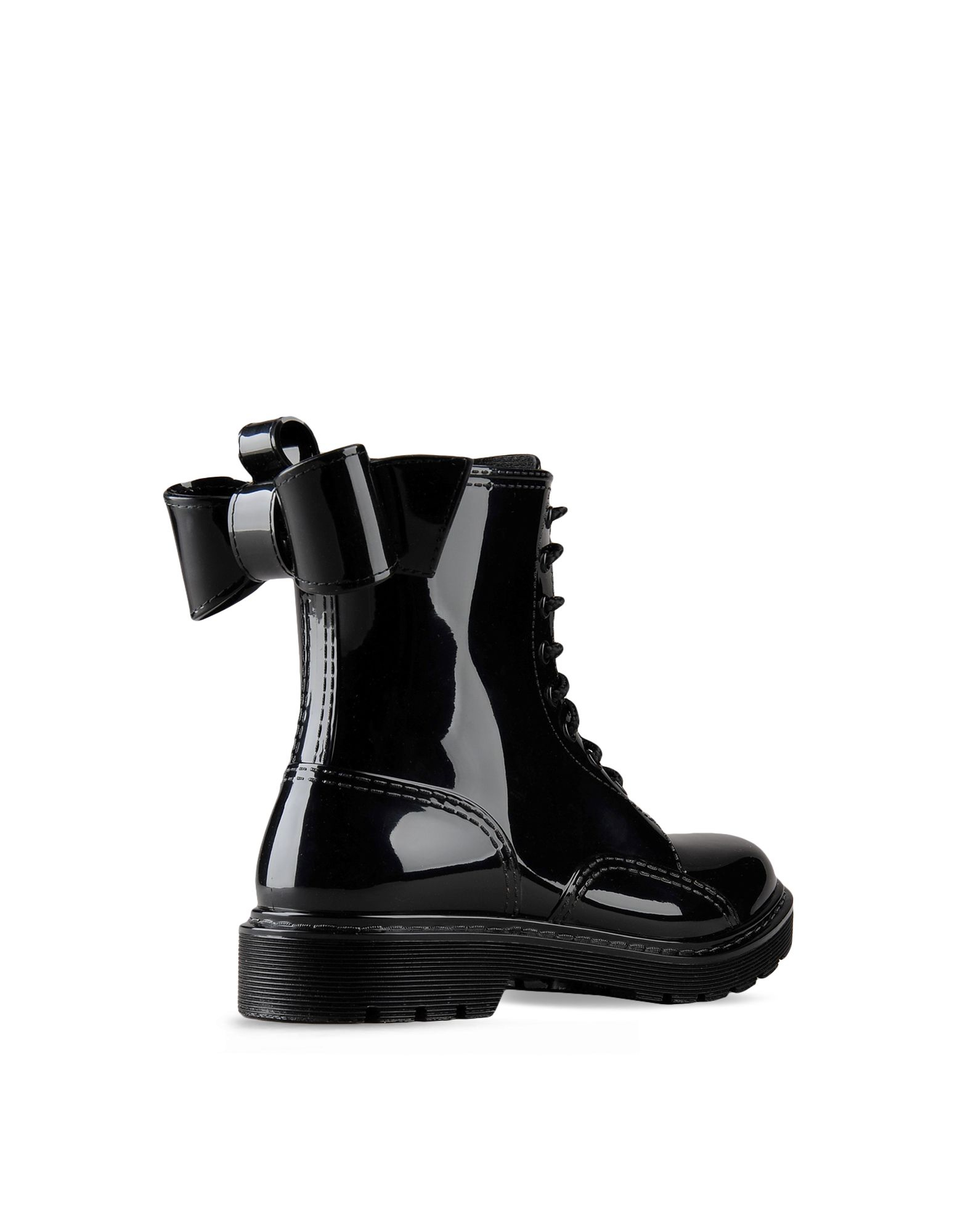 Red valentino Bow Rain Boot in Black | Lyst