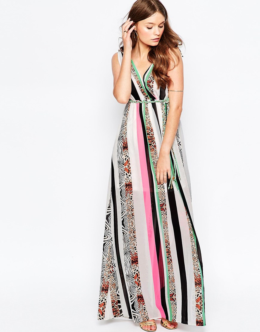 2b20712d2 Traffic People Jungle Fever Surprise Maxi Dress In Mixed Animal ...