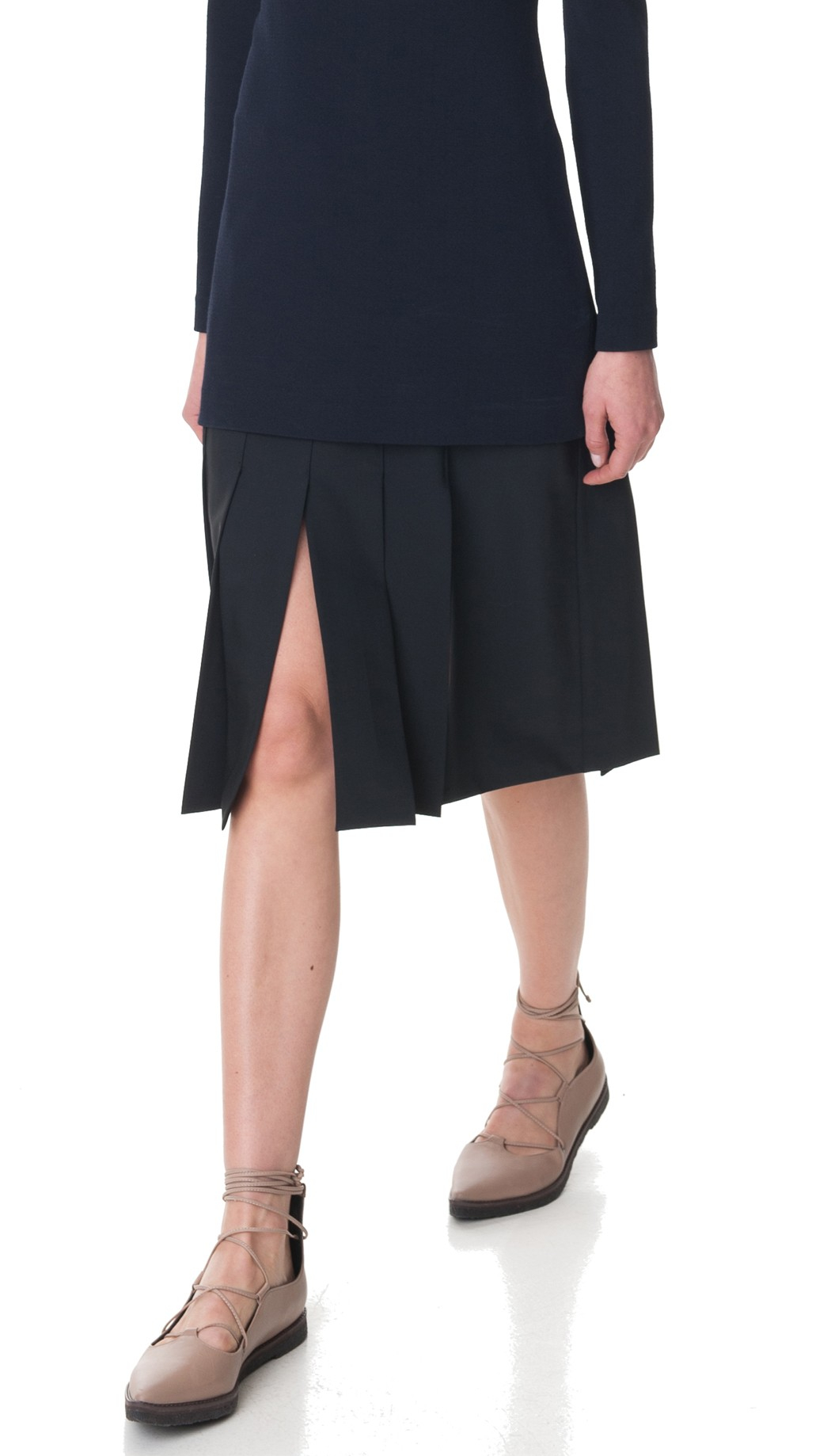 tibi cuarteto carwash midi skirt in black lyst