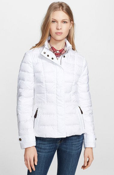 Burberry brit 'dalesbury' Quilted Down Jacket in White | Lyst