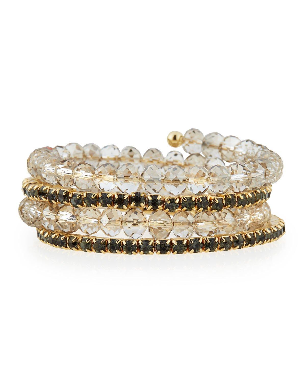 Fragments Ball & Crystal Coil Bracelet 4yqpN6Eojf