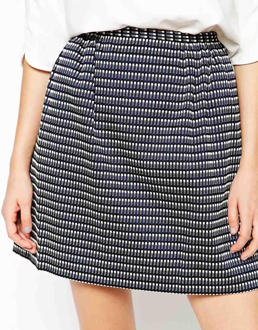440bc61b33 Lyst - See By Chloé Stripe Mini Skirt in Blue