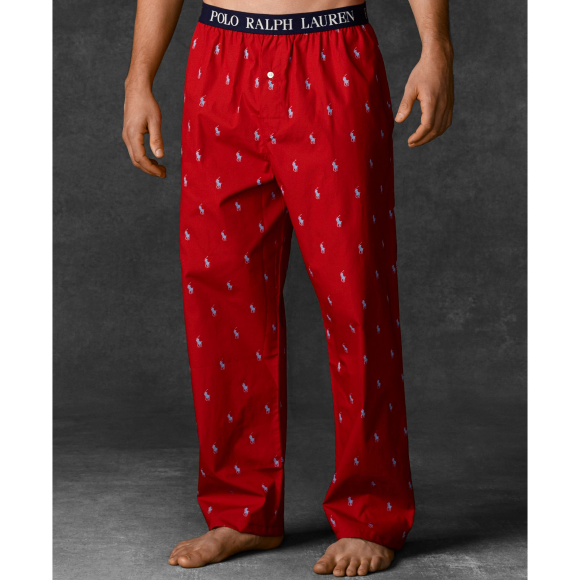 Lyst Ralph Lauren Polo Mens Polo Player Pajama Pants In Red For Men