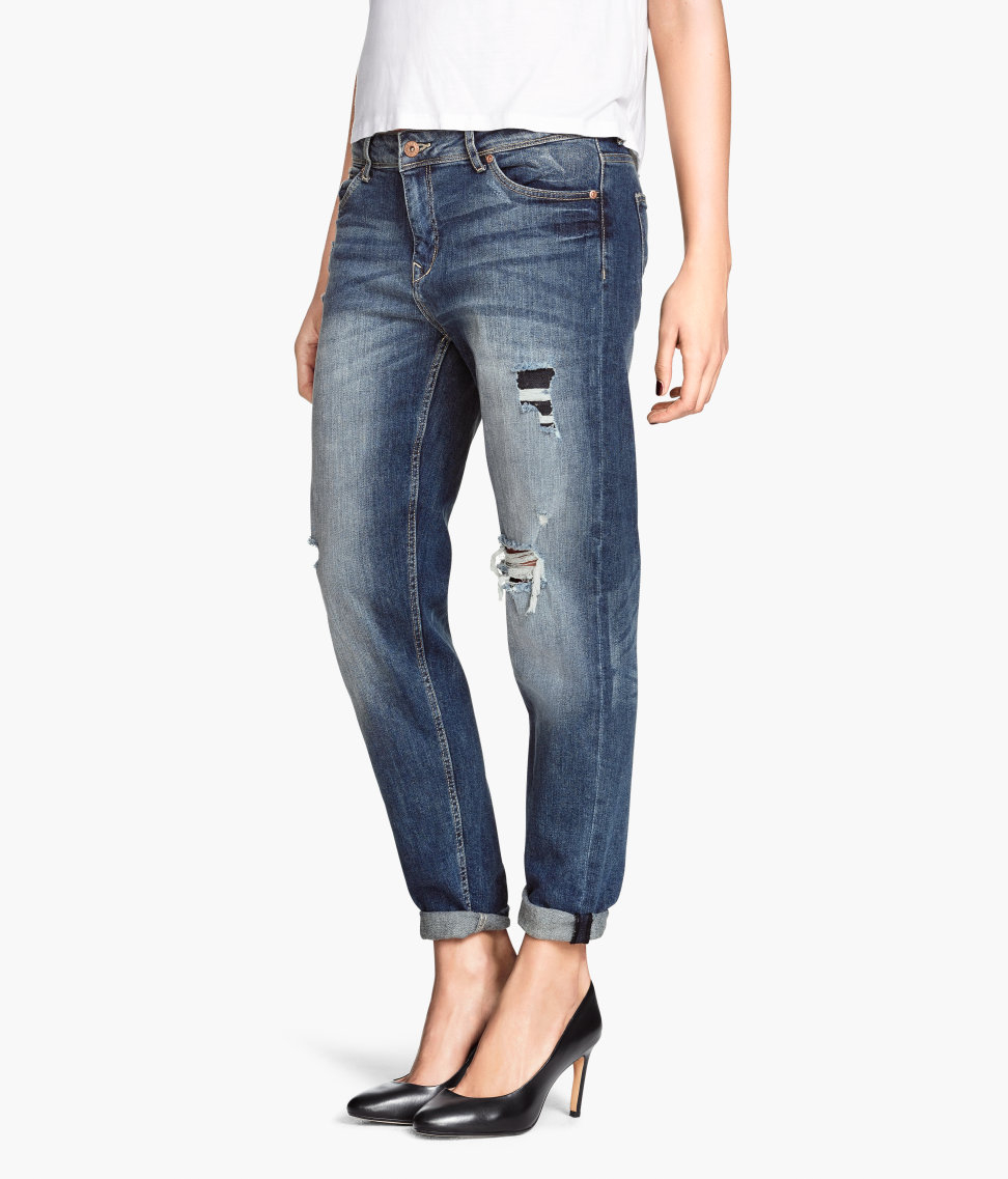 Lyst - Hu0026m Jeans Boyfriend Fit in Blue