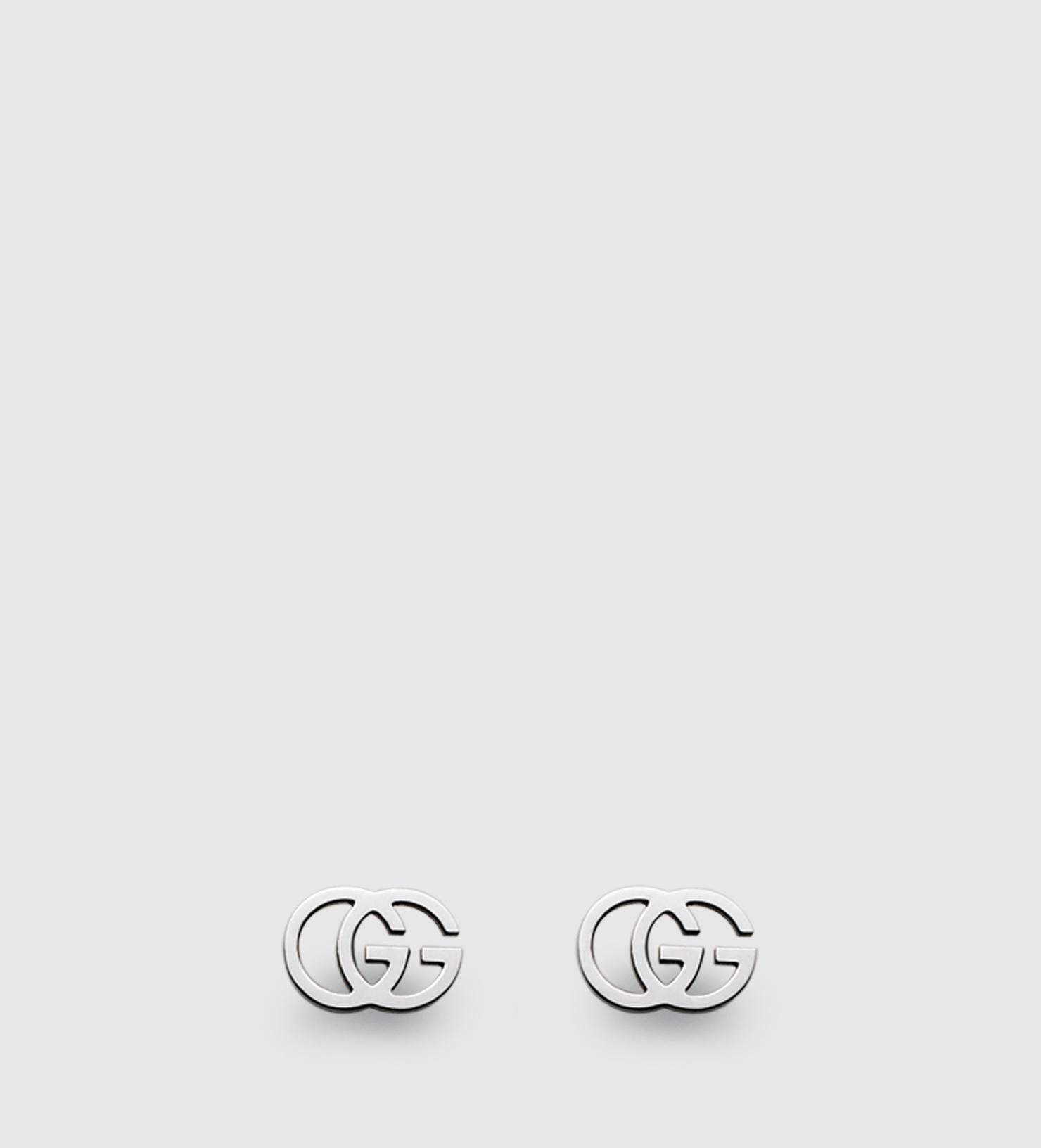 Gucci Gg Tissue Stud Earrings in Metallic - Lyst 2132ce6661