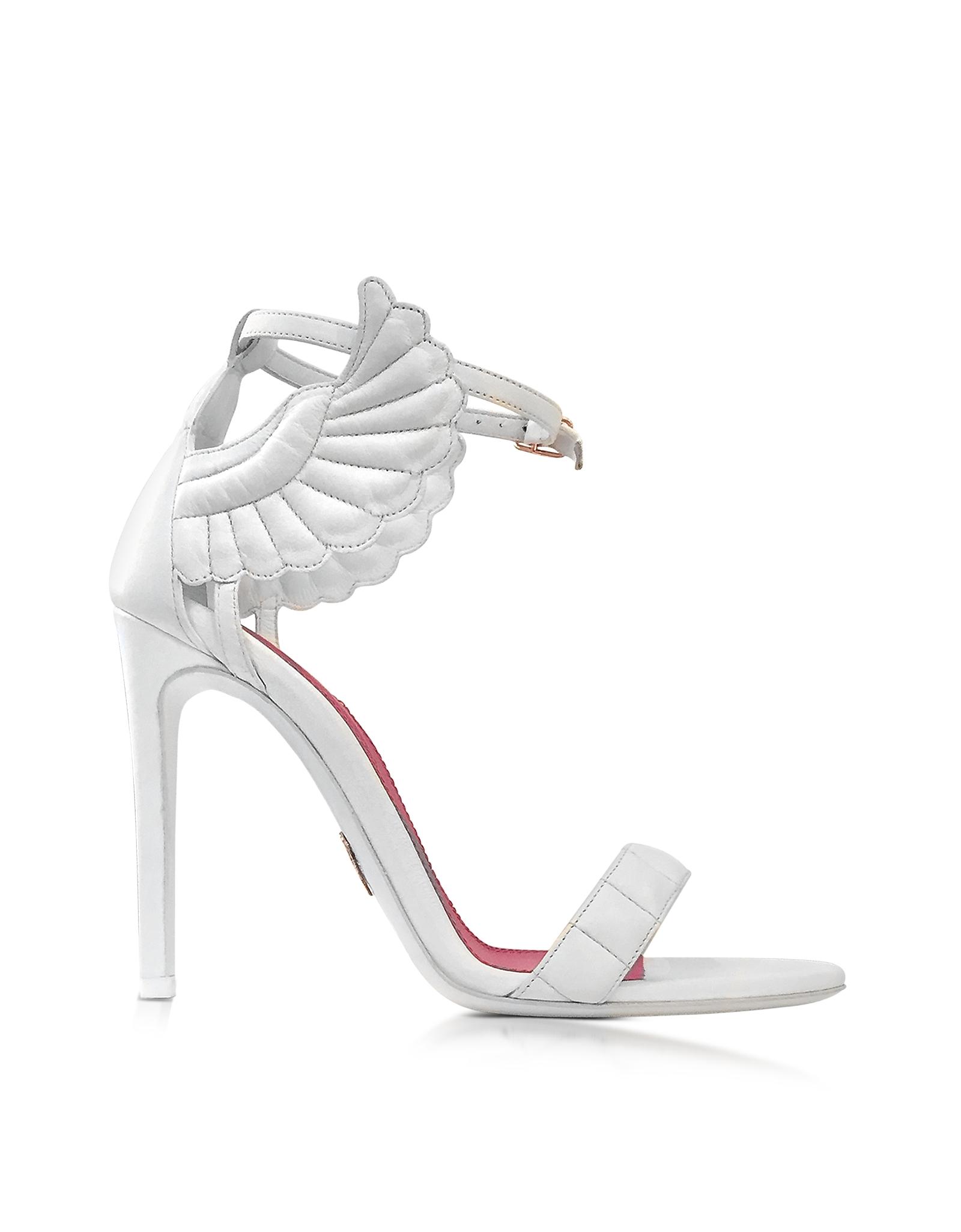 Lyst - Oscar tiye Malikah White Nappa High Heel Sandal in White