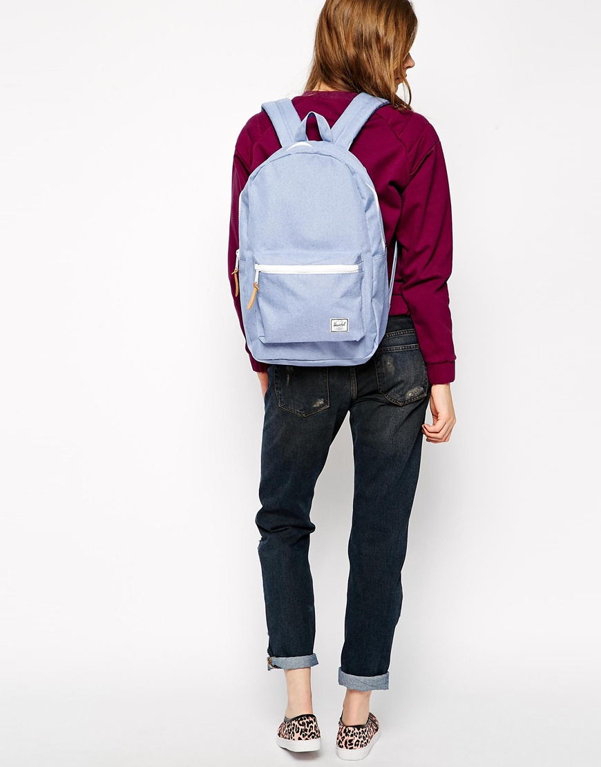 Lyst - Herschel Supply Co. Settlement Backpack In Chambray Blue in Blue d922c1c7b2b25