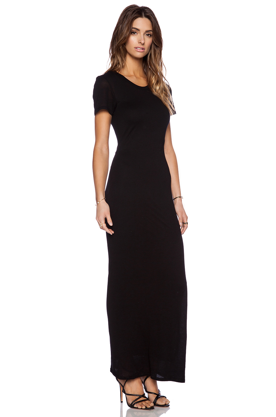 Black dress maxi short sleeve – Woman best dresses