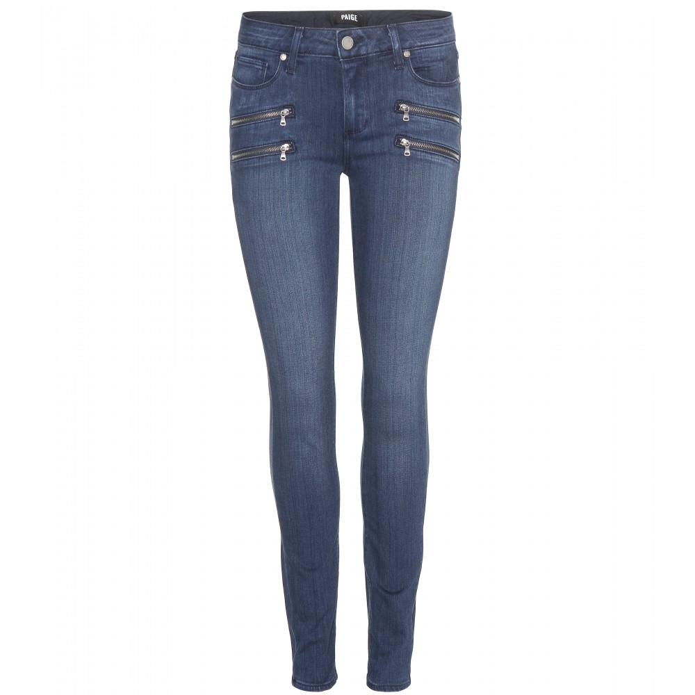 Paige Edgemont Ultra Skinny Jeans In Blue Gabrielle No