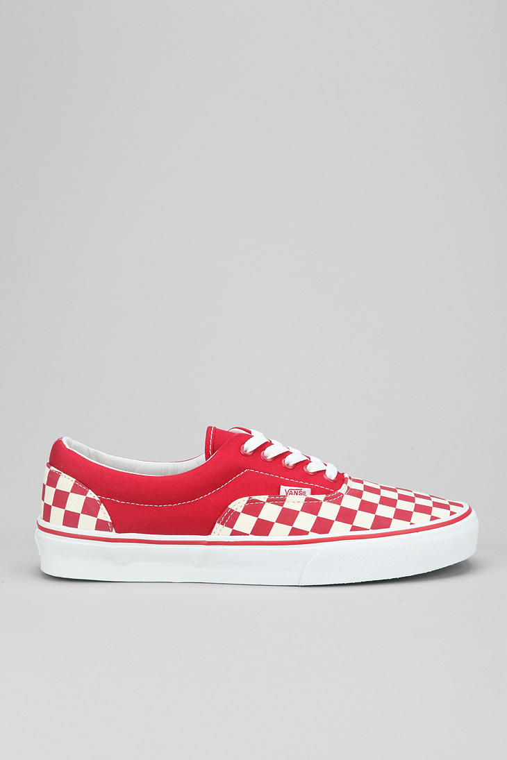 197635f1709b86 Lyst - Urban Outfitters Vans Era Checkerboard Mens Sneaker in Red ...