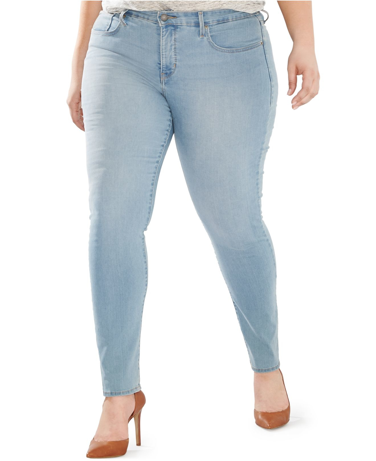 levi 39 s plus size 311 shaping skinny jeans in blue love story lyst. Black Bedroom Furniture Sets. Home Design Ideas
