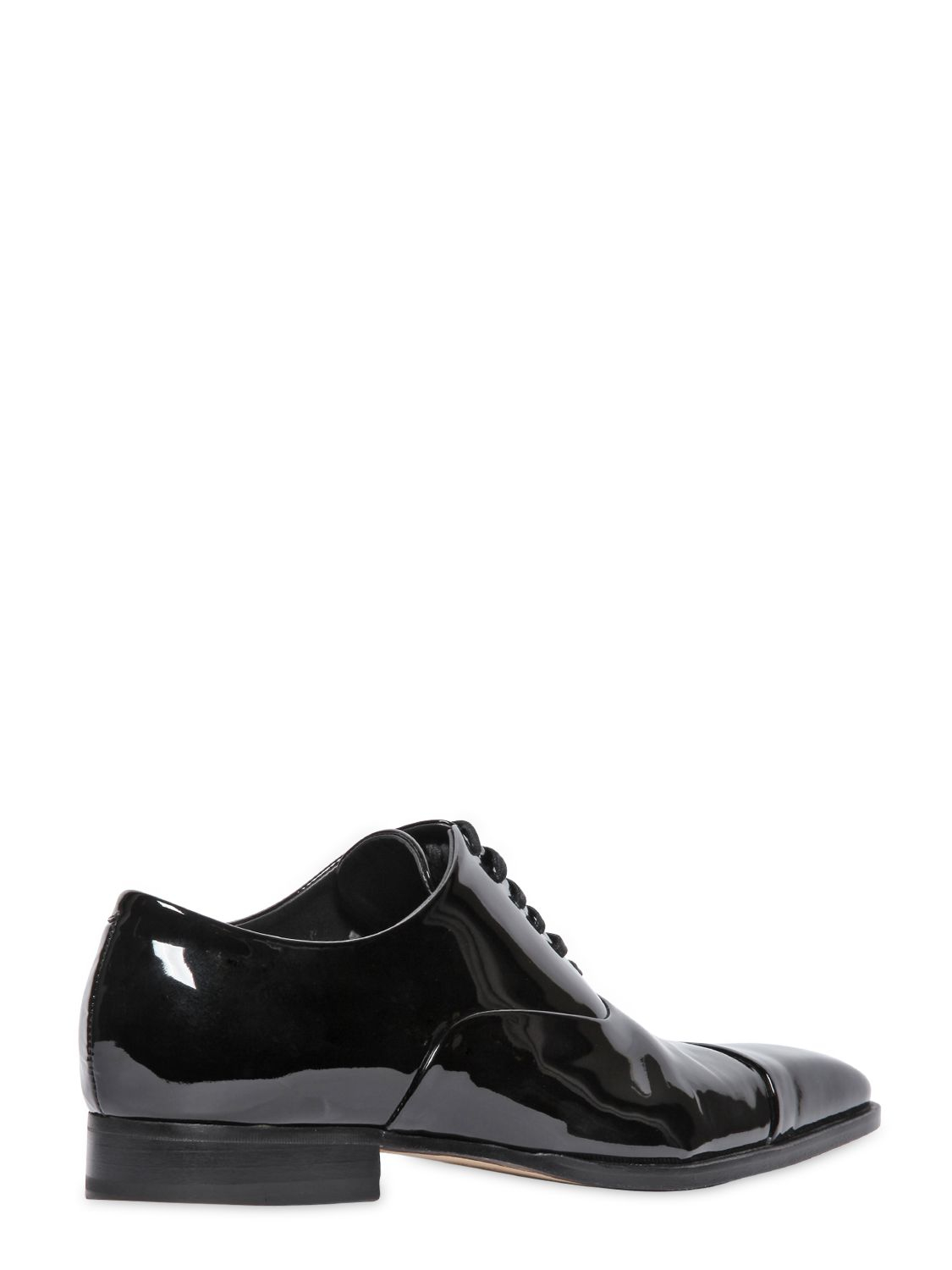 dsquared 178 patent leather oxford shoes in black for lyst