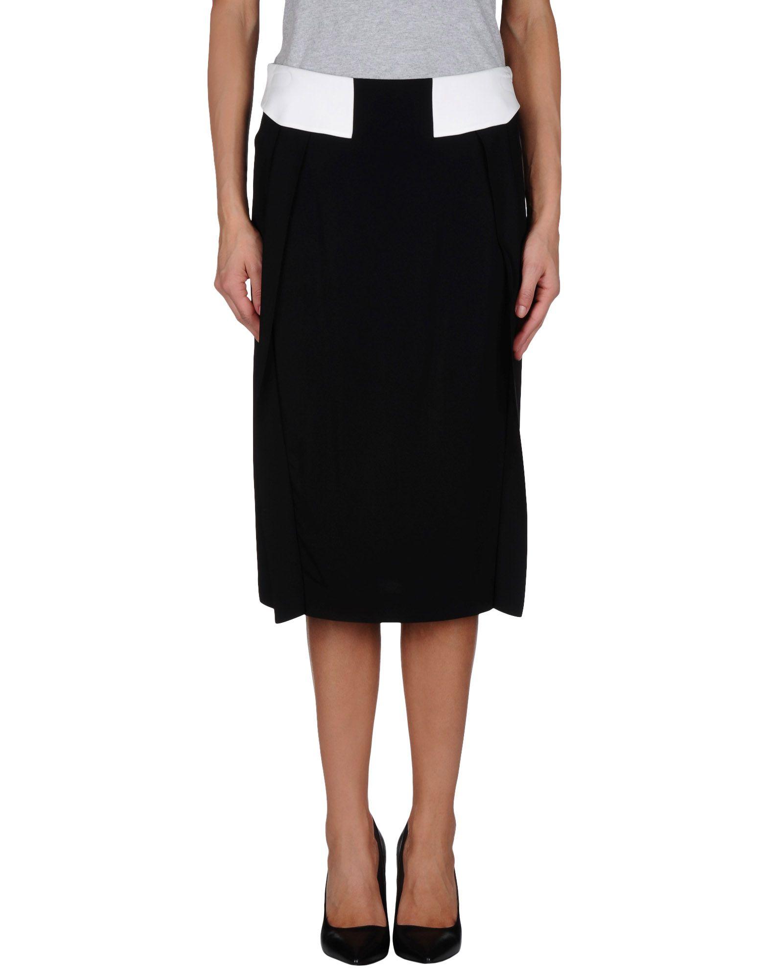 bgn knee length skirt in black save 59 lyst