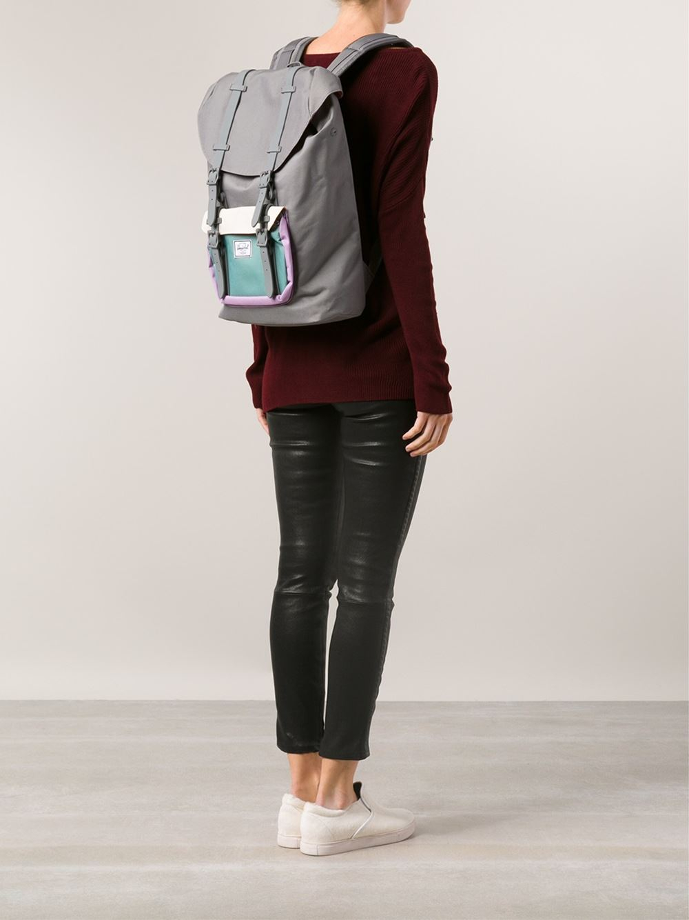 fcb0bfa3cb5 Lyst - Herschel Supply Co. Little America Midvolume Backpack in Gray ...
