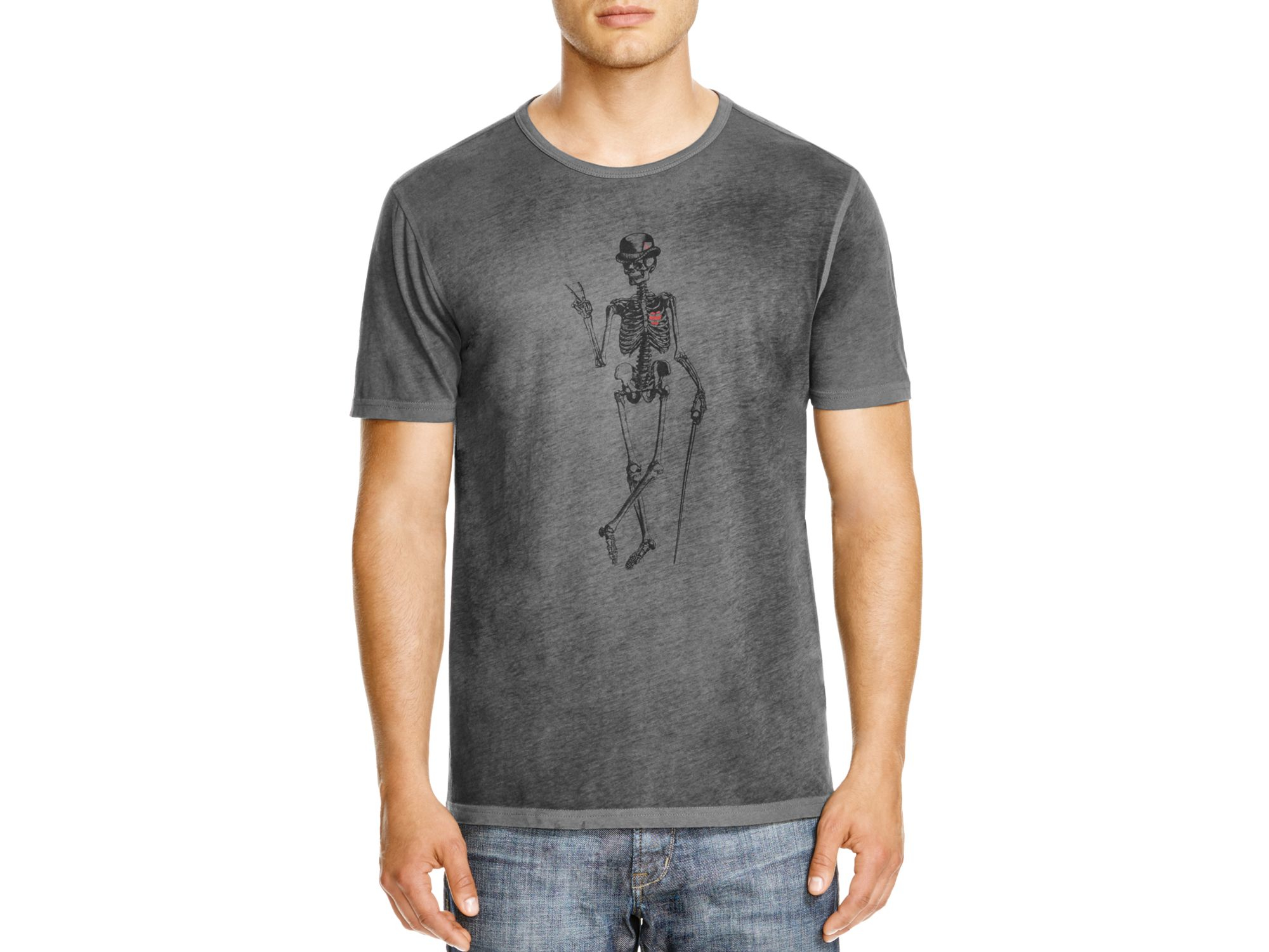 26399e19 John Varvatos Star Usa Skeleton Peace Graphic Tee in Gray for Men - Lyst