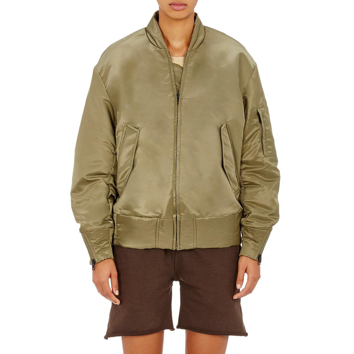 Yeezy Nylon Bomber Jacket in Green for Men | Lyst