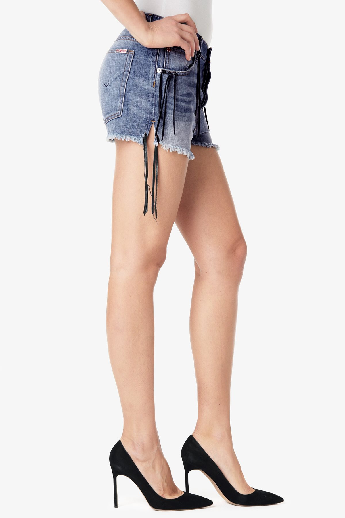 Hudson Jeans Tori Slouch Short In Blue Lyst