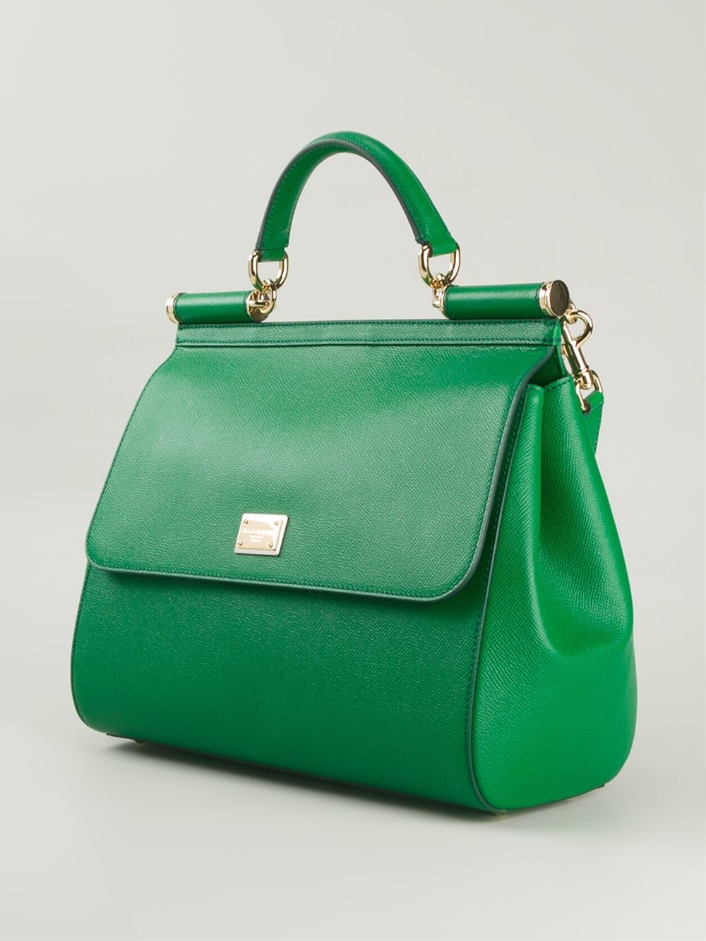 Lyst Dolce Gabbana Large Sicily Tote In Green eb0ded47fe
