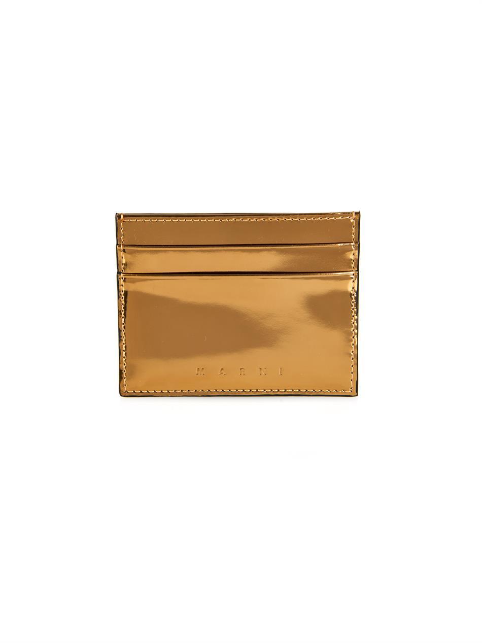 Marni Metallic-Leather Card Holder in Metallic | Lyst
