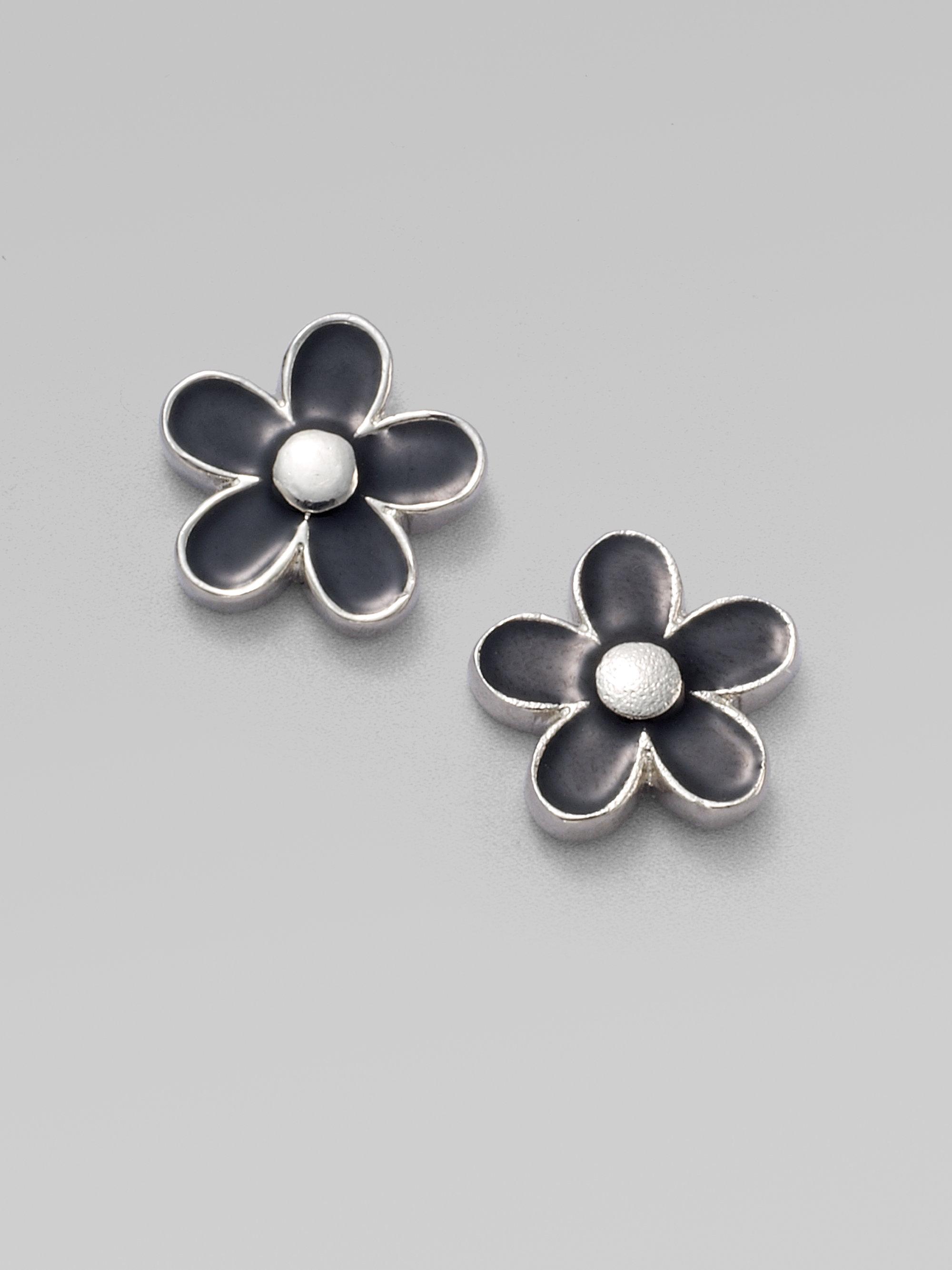 Lyst Marc By Marc Jacobs Daisy Stud Earrings In Black