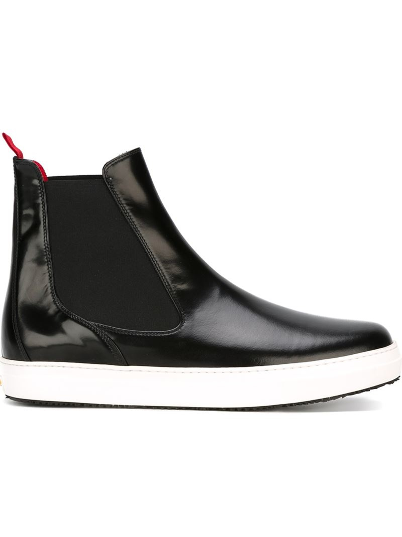 Pulchrum Ridged Sole Ankle Boots in Black for Men | Lyst