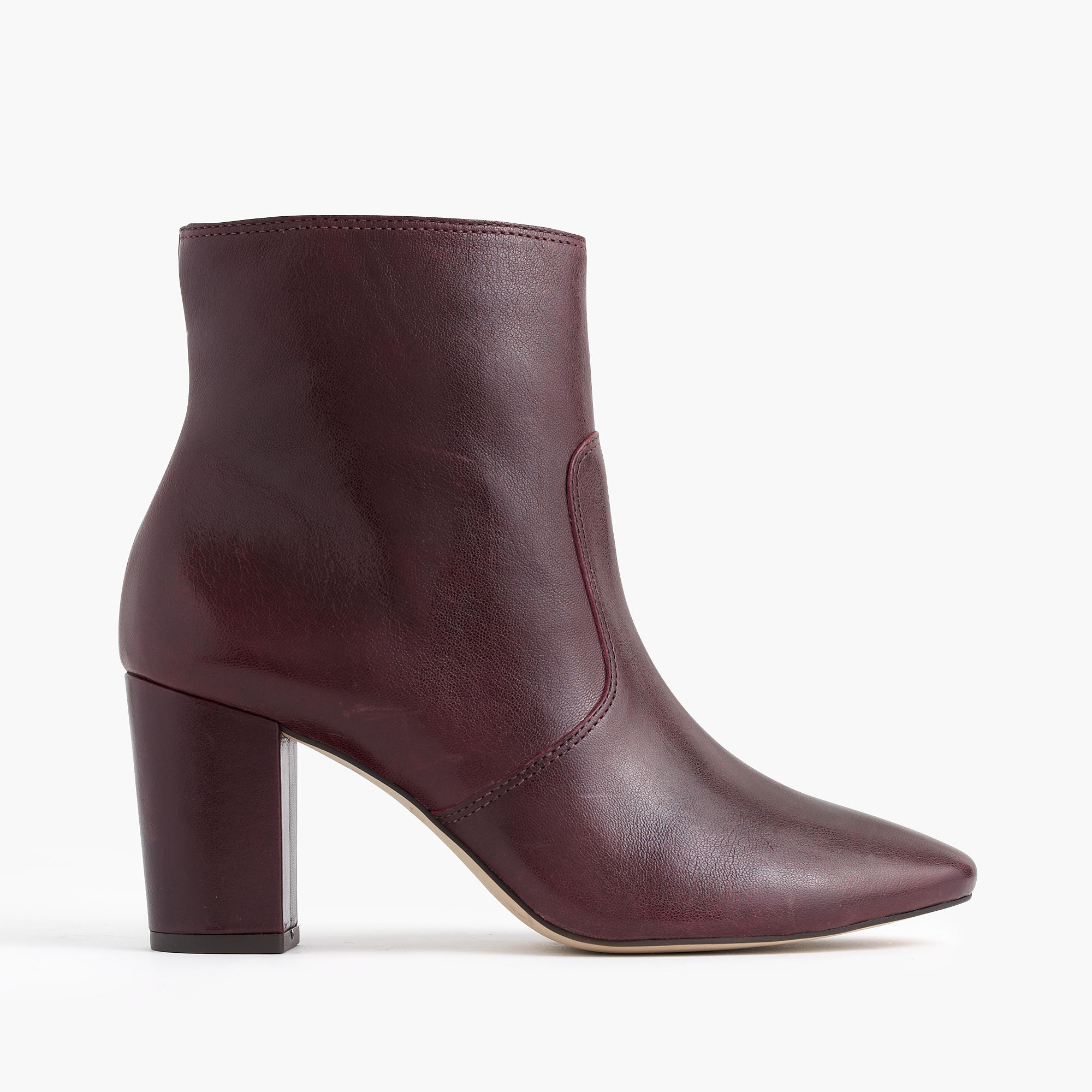 j crew leather zip ankle boots in brown lyst