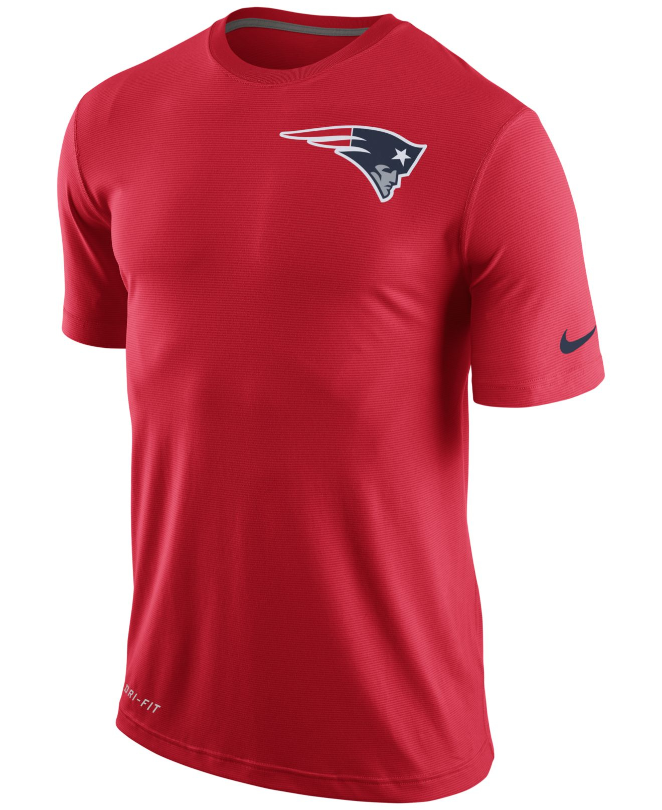 Lyst nike men 39 s new england patriots dri fit touch t New england patriots shirts