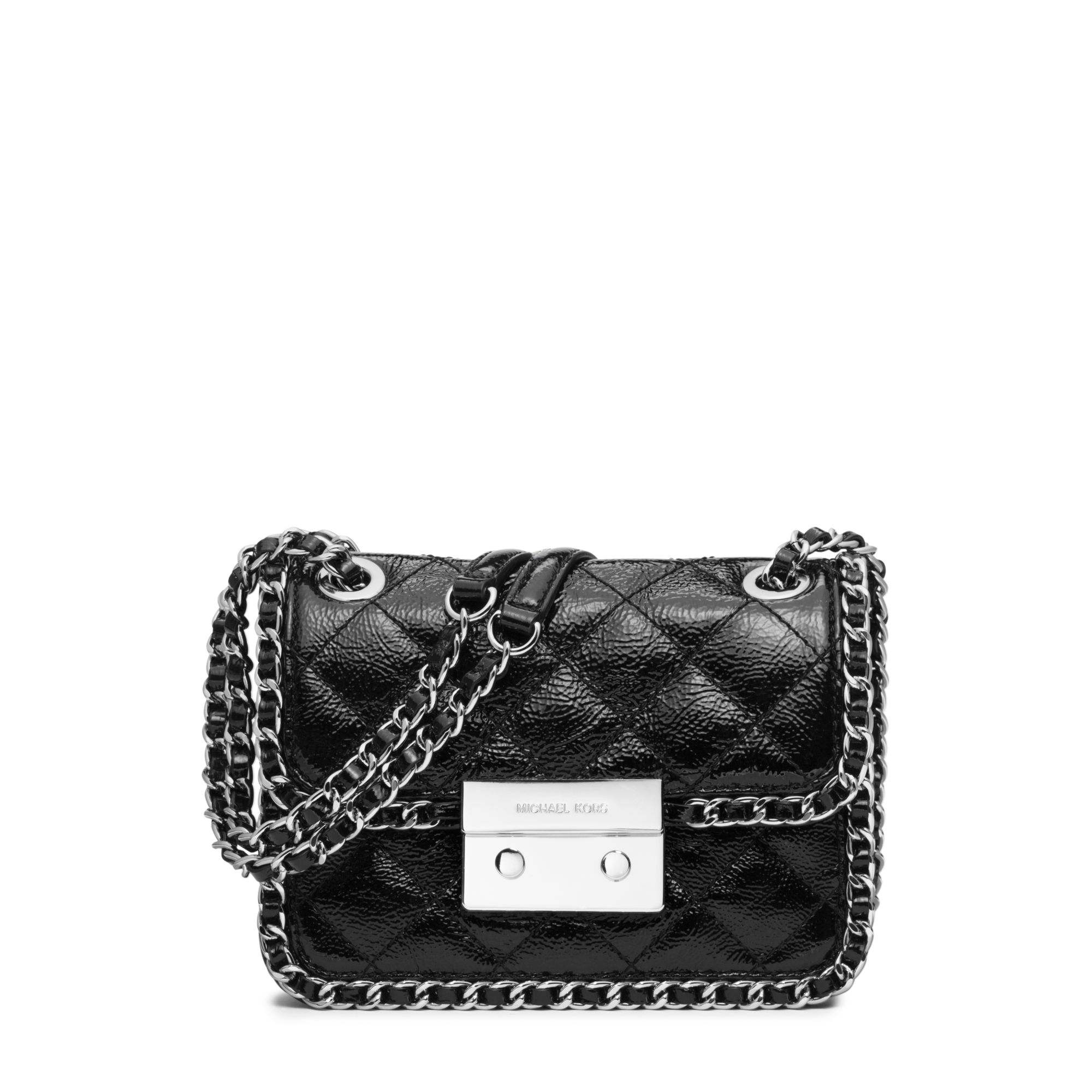 58fbc56b1d59 Michael Kors Carine Medium Quilted-leather Shoulder Bag in Black - Lyst