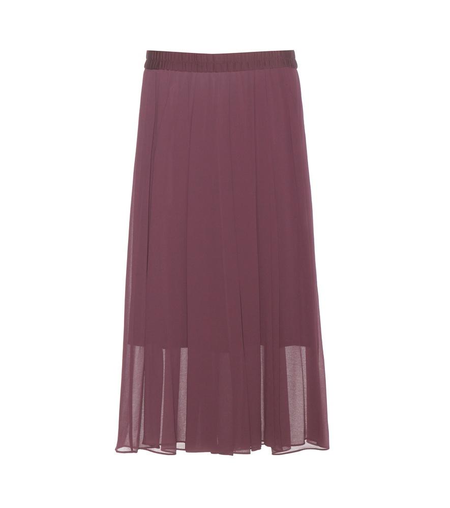 by malene birger pantanius pleated skirt in purple lyst