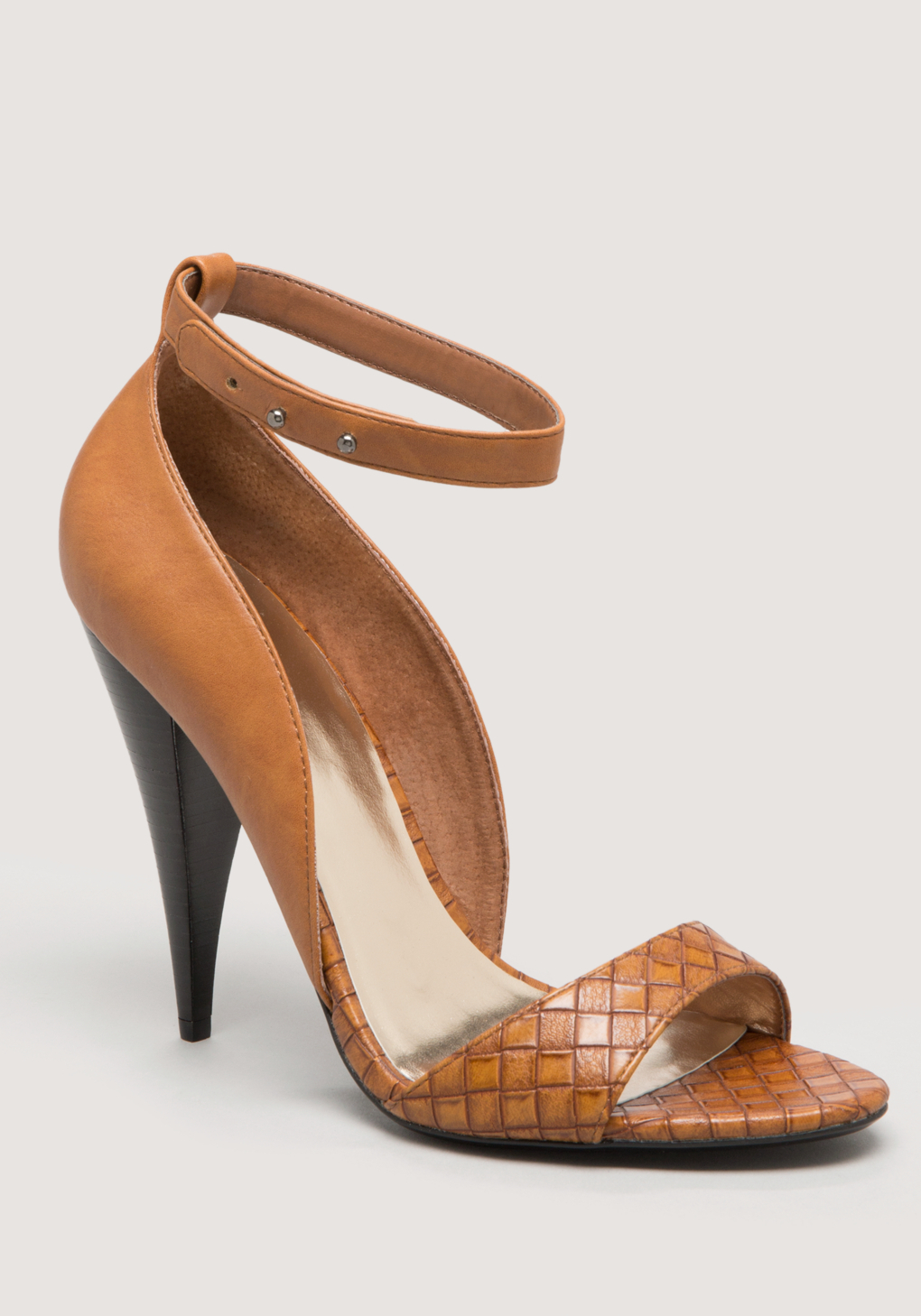Bebe Fianna Ankle Strap Sandals In Brown Cognac Lyst