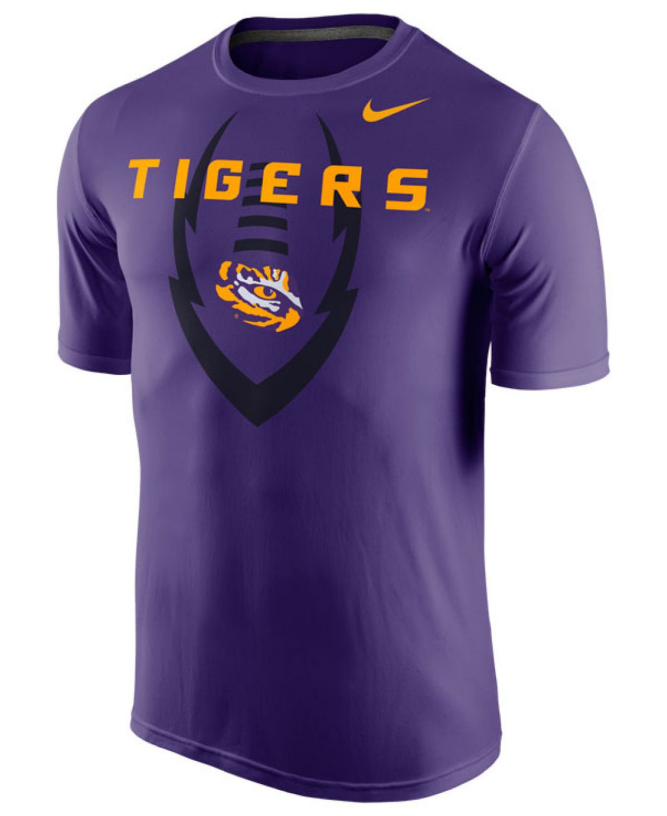nike men 39 s lsu tigers dri fit t shirt in purple for men lyst