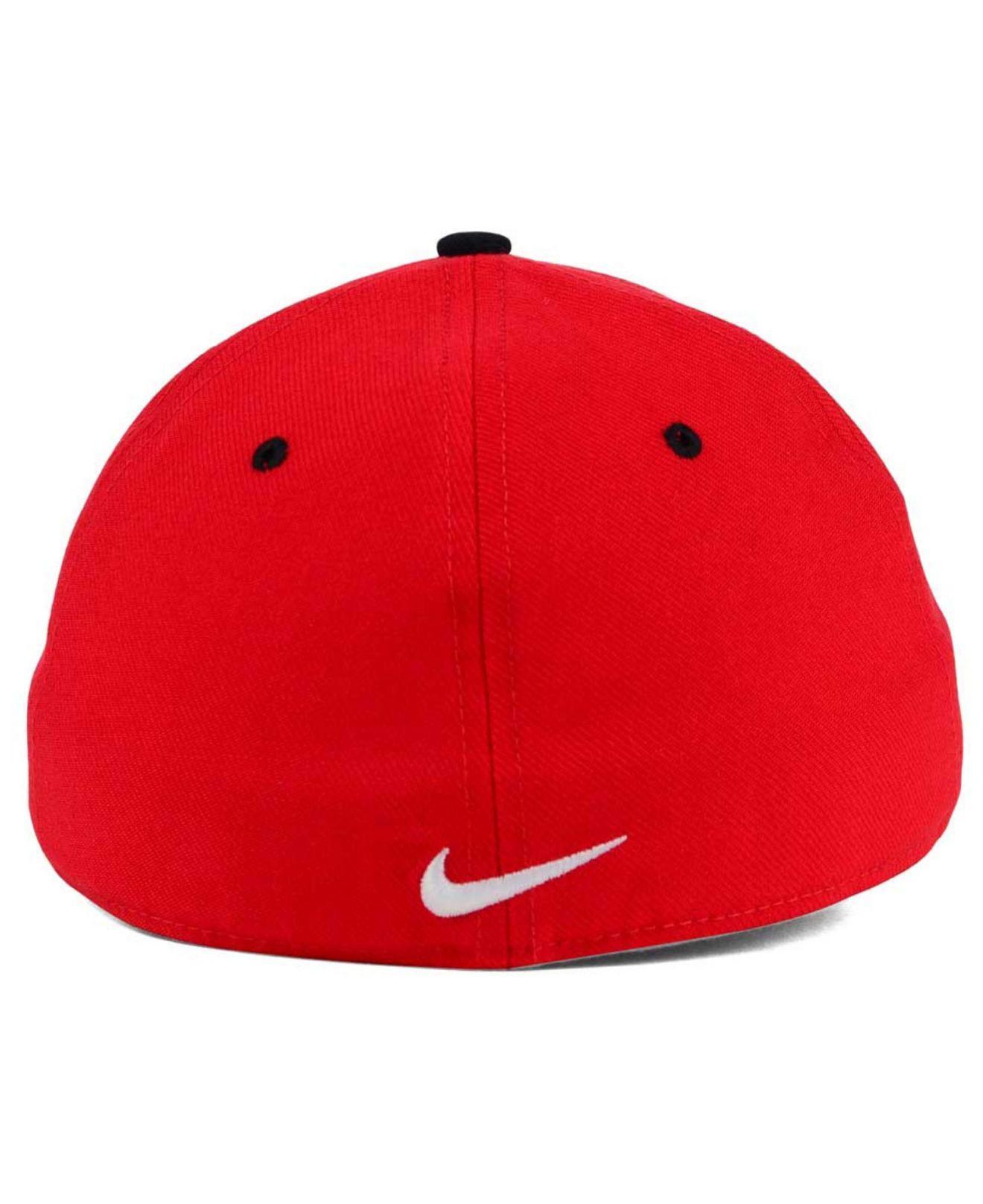 newest 83501 7b21b ... buy lyst nike ohio state buckeyes l91 swooshflex cap in red for men  79bd4 1d30b
