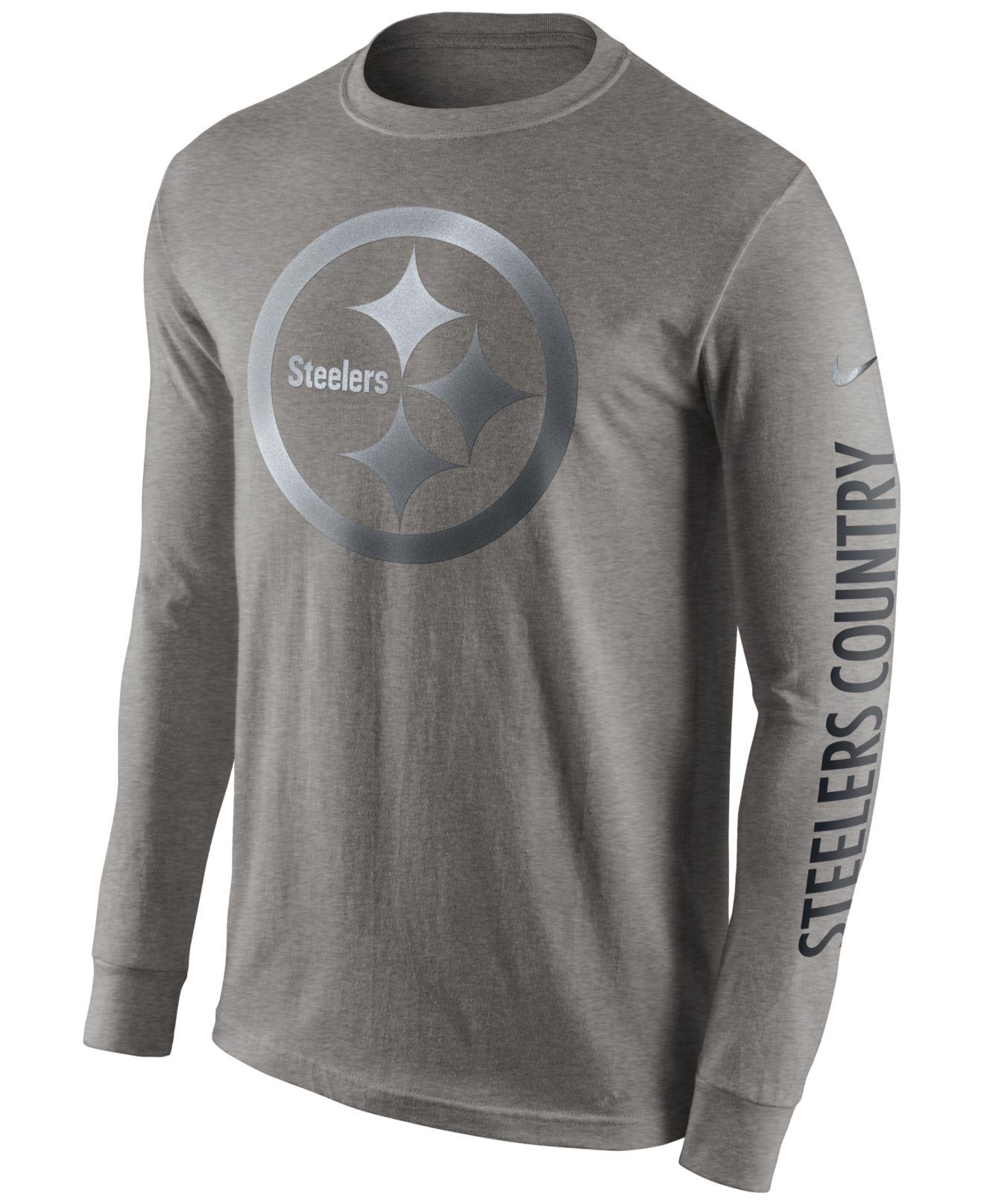 8c2bd3b9 Nike Men's Long-sleeve Pittsburgh Steelers Reflective T-shirt in ...