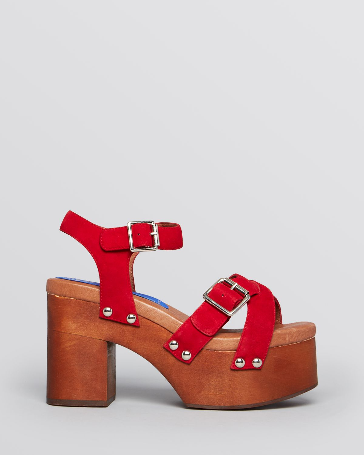 e12a3e3083b Lyst - Jeffrey Campbell Platform Sandals Peasy in Red