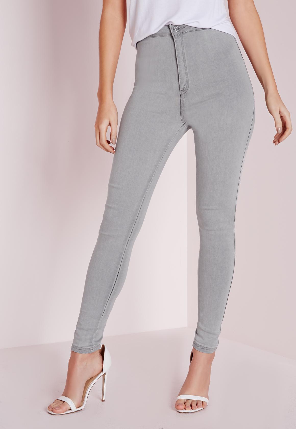 Light grey skinny jeans womens