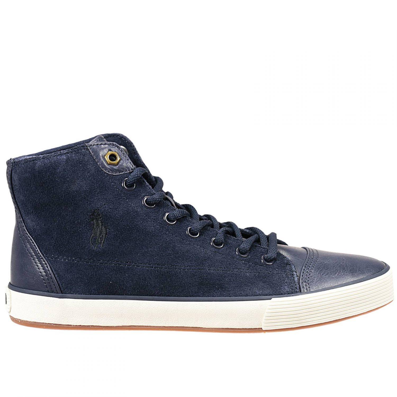 polo ralph lauren ralph lauren men 39 s sneakers in blue for men lyst. Black Bedroom Furniture Sets. Home Design Ideas