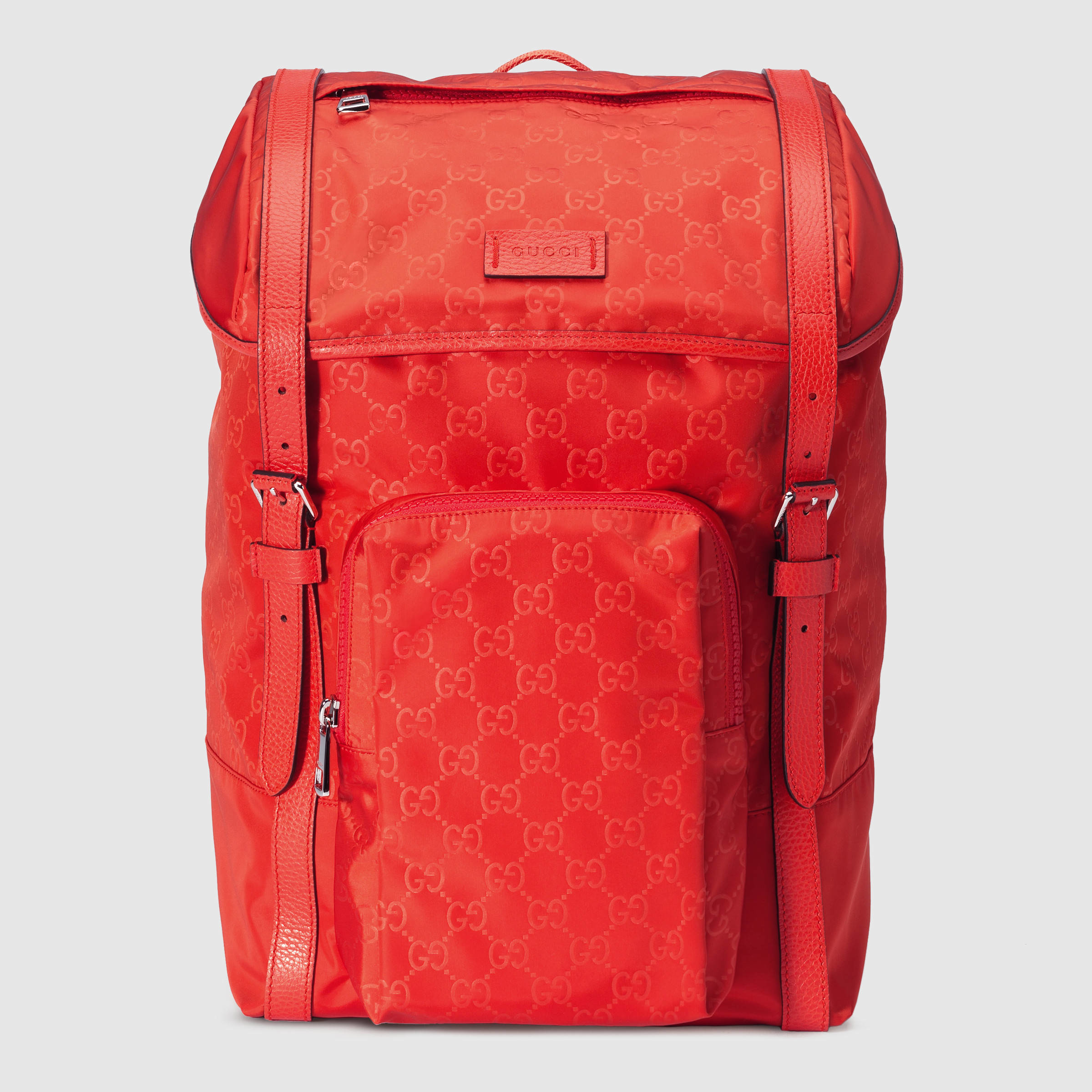 Lyst - Gucci Nylon Ssima Light Backpack in Red for Men 1758e194aa729