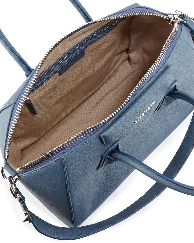 94df6dd2a634 Lyst - Givenchy Antigona Medium Leather Satchel Bag in Blue