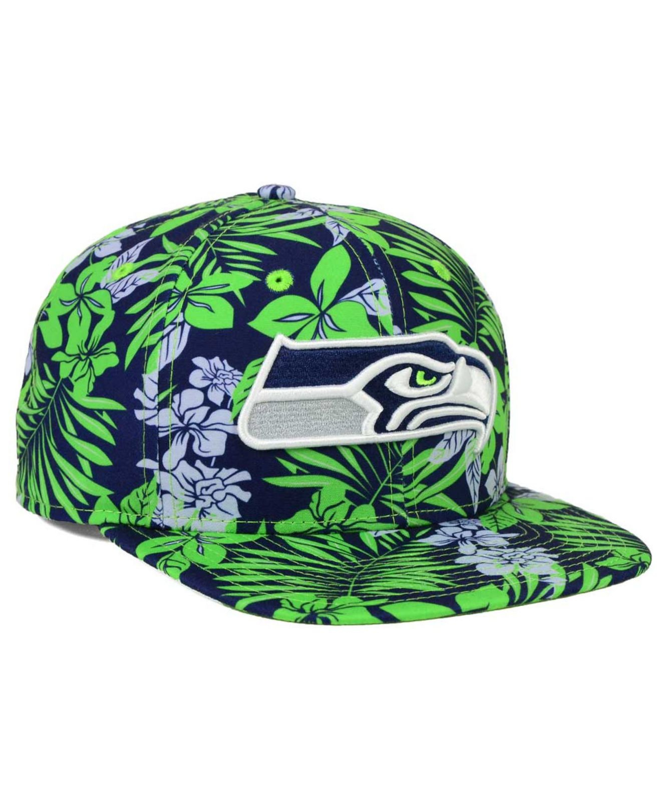 ktz seattle seahawks wowie snapback cap in blue for men lyst. Black Bedroom Furniture Sets. Home Design Ideas