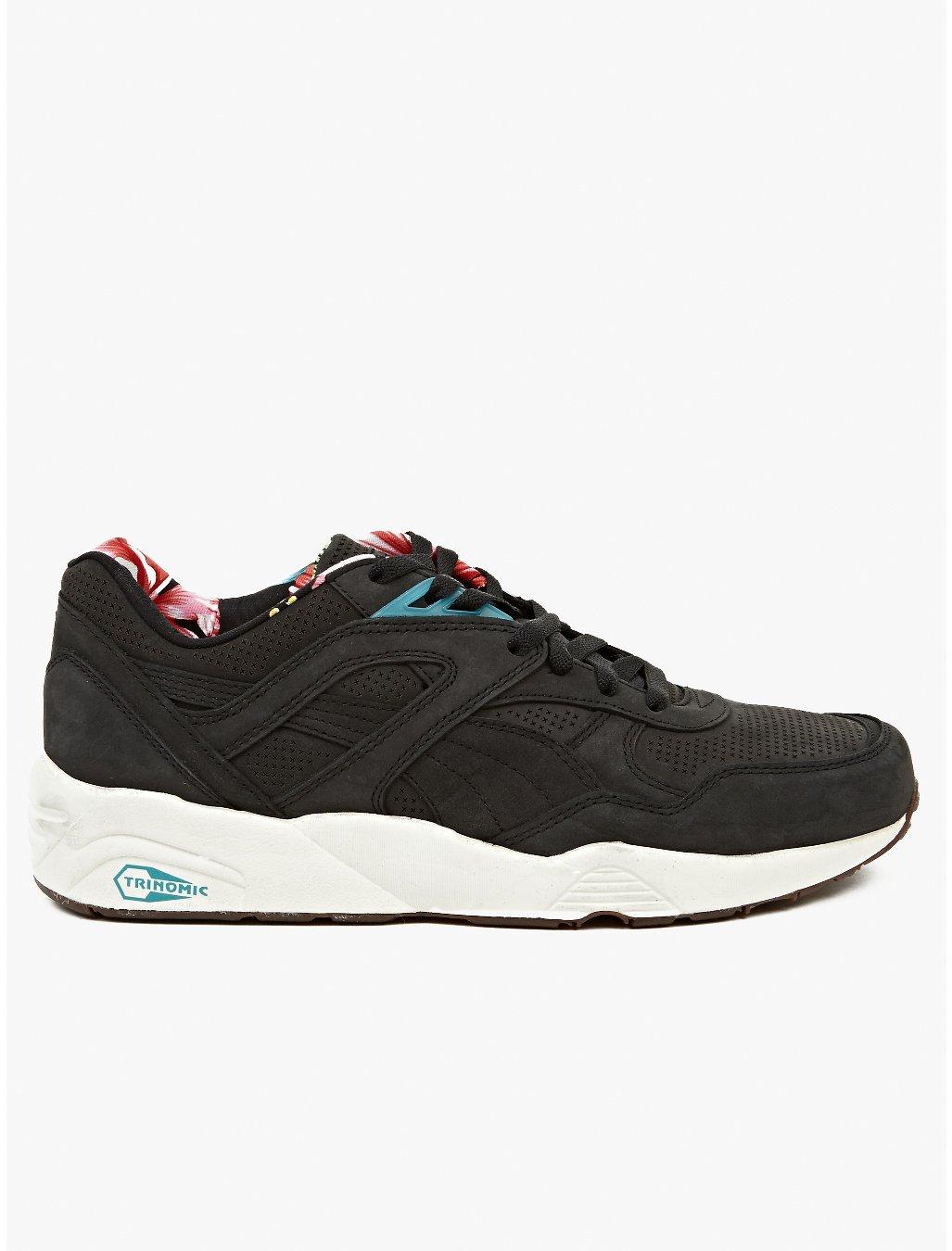Puma Mens Trinomic R698l Tropicalia Sneakers In Black For