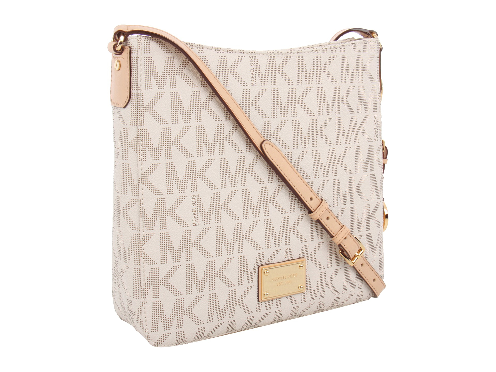 a65eef8cfb34 Lyst - MICHAEL Michael Kors Jet Set Travel Large Messenger in White