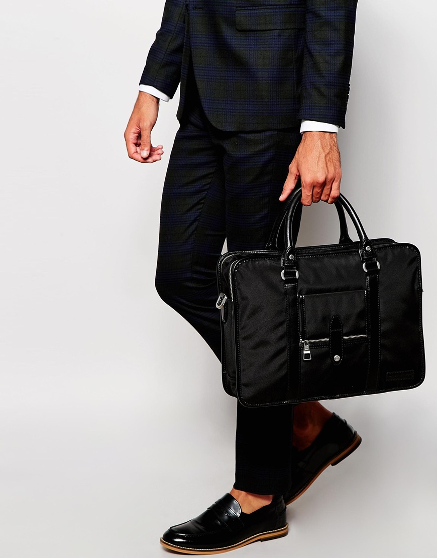 6ecd028c820 Tommy Hilfiger Bert Briefcase in Black for Men - Lyst
