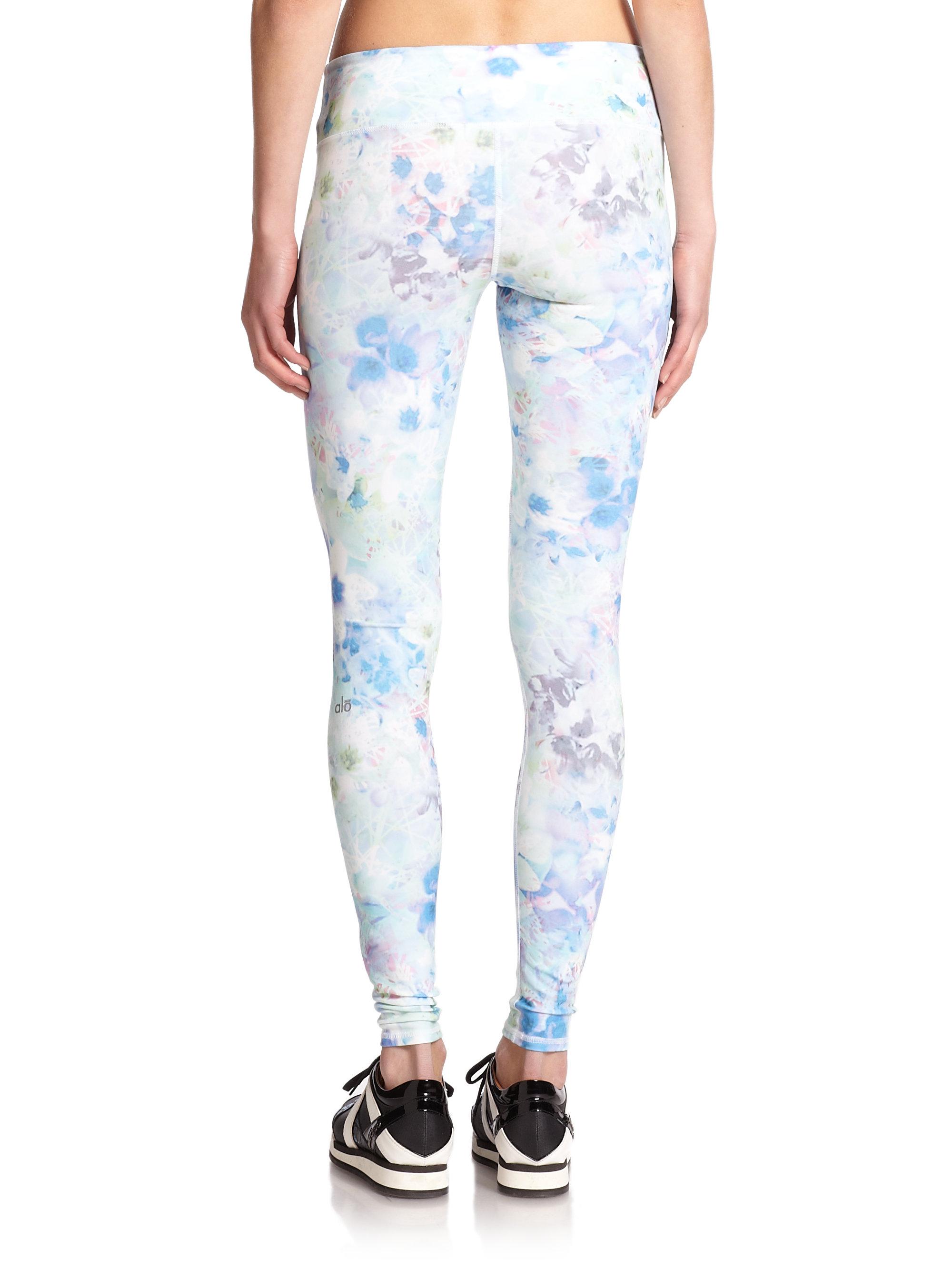 613db10059 Alo Yoga Airbrush Print Yoga Pants - Lyst