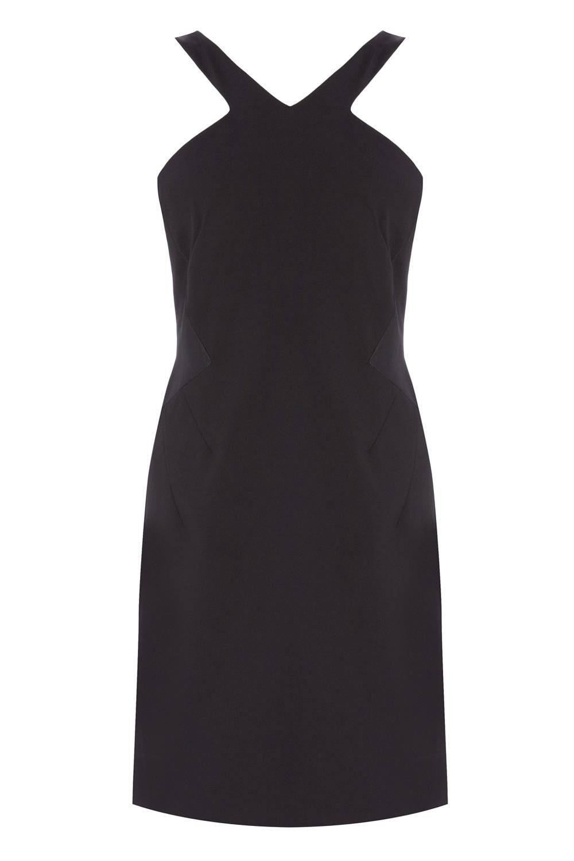 Coast black dress with white bow