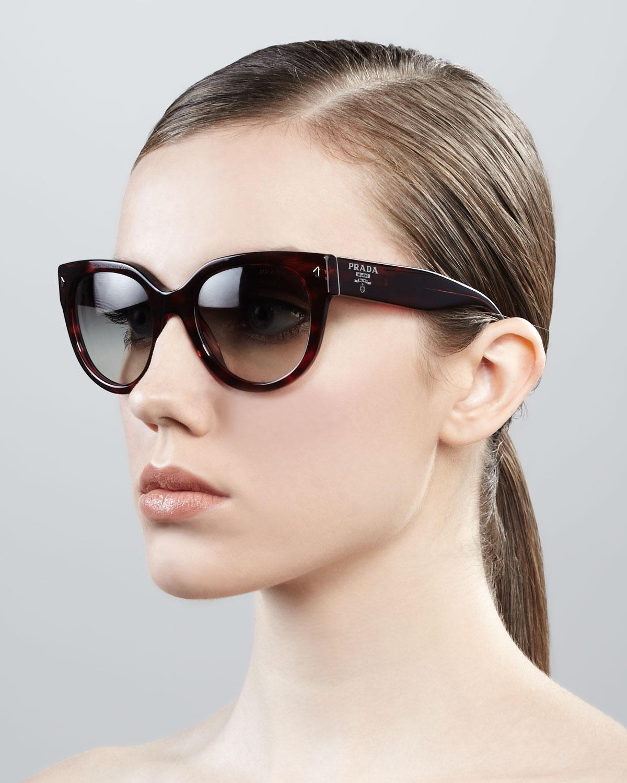 14a1e35c7d67 switzerland prada womens mod. 29ps sole cateye sunglasses 1ab0a7 a269b  36be4  cheapest lyst prada cat eye retro rectangle sunglasses a5a37 ca704